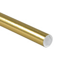 Gold Mailing Tubes, Gold Shipping Tube with Caps