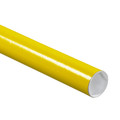 Yellow Mailing Tubes, Color Shipping Tube with Caps