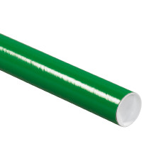 Green Mailing Tubes, Green Shipping Tube with Caps