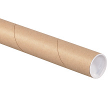 Kraft Mailing Brown Shipping Tubes with End Caps