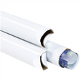 White Crimped End Mailing Storage Tubes