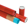 Red Kraft Premium Telescoping Mailing Storage Tubes