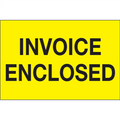 """Invoice Enclosed"" (Fluorescent Yellow) Shipping and Handling Labels"