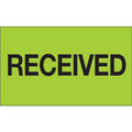 """""""Received"""" (Fluorescent Green) Shipping and Handling Labels"""