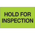 """Hold For Inspection"" (Fluorescent Green) Shipping and Handling Labels"