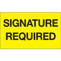 """Signature Required"" (Fluorescent Yellow) Shipping and Handling Labels"