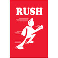"""""""Rush"""" Shipping and Handling Label"""