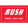 """""""Rush - Handle With Care"""" Shipping and Handling Labels"""