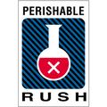 """Perishable Rush"" Shipping and Handling Labels"
