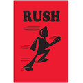 """""""Rush"""" (Fluorescent Red) Shipping and Handling Labels"""