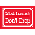 """""""Delicate Instruments - Don't Drop"""" Shipping and Handling Labels"""
