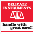 """""""Delicate Instruments - Handle With Care"""" Shipping and Handling Labels"""
