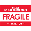"""Fragile - Do Not Double Stack"" Shipping and Handling Labels"