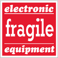 """""""Fragile - Electronic Equipment"""" Shipping and Handling Labels"""