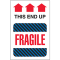"""""""This End Up - Fragile"""" Shipping and Handling Labels"""