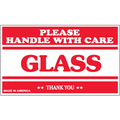 """Glass - Please Handle With Care"" Shipping and Handling Labels"