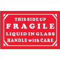 """Fragile - Liquid in Glass - Handle With Care"" Shipping and Handling Labels"