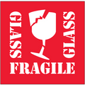 """Fragile - Glass"" Shipping and Handling Labels"