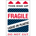 """Fragile - Liquid in Plastic"" Shipping and Handling Labels"