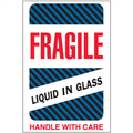 """Fragile - Liquid in Glass"" Shipping and Handling Labels"