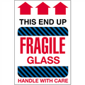 """Fragile Glass - This End Up"" Shipping and Handling Labels"
