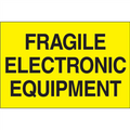 """""""Fragile - Electronic Equipment"""" (Fluorescent Yellow) Shipping and Handling Labels"""