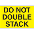 """""""Do Not Double Stack"""" (Fluorescent Yellow) Shipping and Handling Labels"""