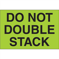 """""""Do Not Double Stack"""" (Fluorescent Green) Shipping and Handling Labels"""