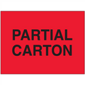 """""""Partial Carton"""" Shipping and Handling Labels"""