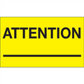 """""""Attention ___"""" (Fluorescent Yellow) Shipping and Handling Labels"""