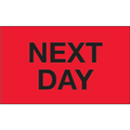 """Next Day"" (Fluorescent Red) Shipping and Handling Labels"