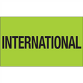 """""""International"""" (Fluorescent Green) Shipping and Handling Labels"""