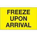 """Freeze Upon Arrival"" (Fluorescent Yellow) Shipping and Handling Labels"