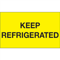 """Keep Refrigerated"" (Fluorescent Yellow) Shipping and Handling Labels"