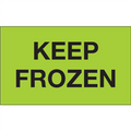 """Keep Frozen"" (Fluorescent Green) Shipping and Handling Labels"