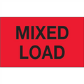 """""""Mixed Load"""" (Fluorescent Red) Shipping and Handling Labels"""