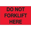 """Do Not Forklift Here"" (Fluorescent Red) Shipping and Handling Labels"