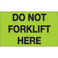 """Do Not Forklift Here"" (Fluorescent Green) Shipping and Handling Labels"