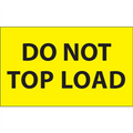 """""""Do Not Top Load"""" (Fluorescent Yellow) Shipping and Handling Labels"""