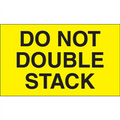 """Do Not Double Stack"" (Fluorescent Yellow) Shipping and Handling Labels"