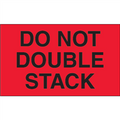 """""""Do Not Double Stack"""" (Fluorescent Red) Shipping and Handling Labels"""