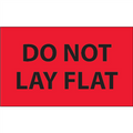 """""""Do Not Lay Flat"""" (Fluorescent Red) Shipping and Handling Labels"""