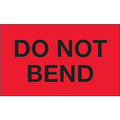 """Do Not Bend"" (Fluorescent Red) Shipping and Handling Labels"