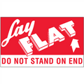 """3"""" x 5"""" - """"Lay Flat - Do Not Stand On End"""" Labels"""
