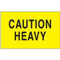 """""""Caution - Heavy"""" (Fluorescent Yellow) Shipping and Handling Labels"""
