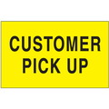 """""""Customer Pick Up"""" (Fluorescent Yellow) Shipping and Handling Labels"""