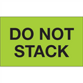 """Do Not Stack"" (Fluorescent Green) Shipping and Handling Labels"