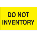 """Do Not Inventory"" (Fluorescent Yellow) Shipping and Handling Labels"