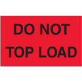 """Do Not Top Load"" (Fluorescent Red) Shipping and Handling Labels"