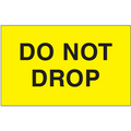 """Do Not Drop"" (Fluorescent Yellow) Shipping and Handling  Labels"